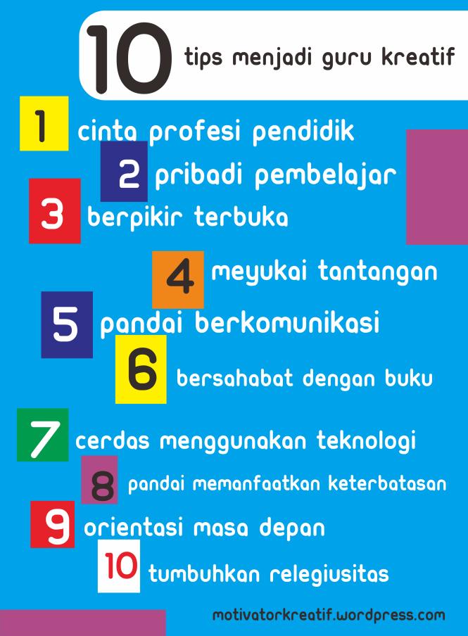 poster 10 Tips Jadi Guru Kreatif